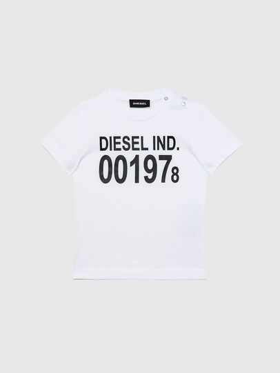 Diesel - TDIEGO001978B, White/Black - T-shirts and Tops - Image 1