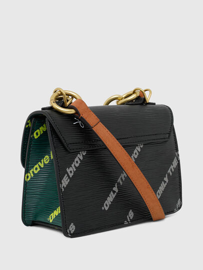 Diesel - ORMELLE MC, Black/Green - Crossbody Bags - Image 7