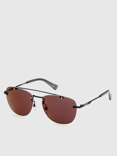 Diesel - DL0350, Black/Red - Sunglasses - Image 2