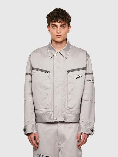 Diesel - J-THOMPSON-A, Light Grey - Jackets - Image 1