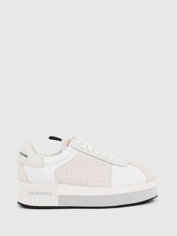 S-PYAVE WEDGE, White/Pink - Sneakers