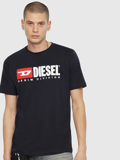 Diesel - T-JUST-DIVISION, Dark Blue - T-Shirts - Image 1