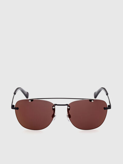 Diesel - DL0350, Black/Red - Sunglasses - Image 1