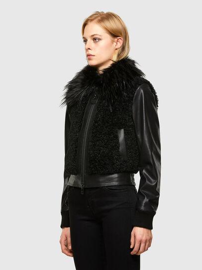 Diesel - L-LEDA, Black - Leather jackets - Image 5