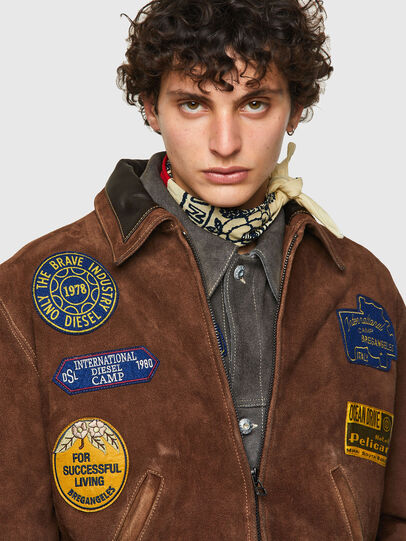 Diesel - DxD-3, Brown - Leather jackets - Image 6
