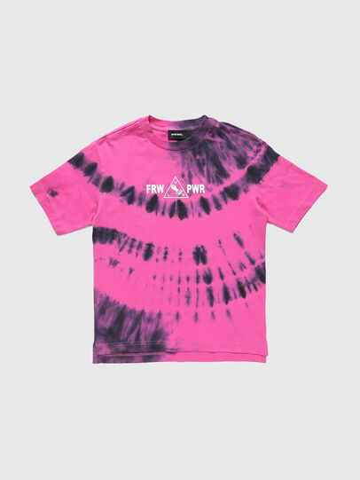 Diesel - TJUSTSLITSX86 OVER, Pink - T-shirts and Tops - Image 1