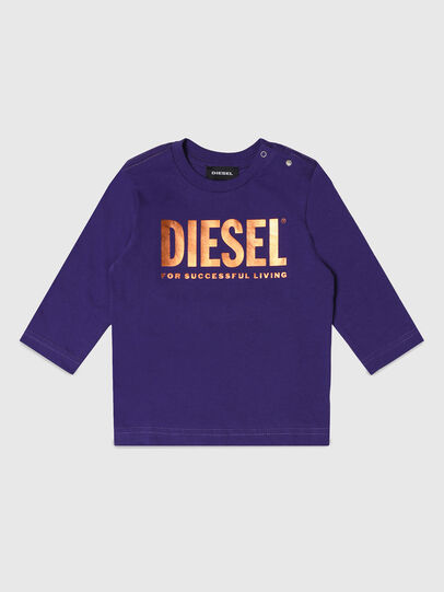 Diesel - TJUSTLOGOB-FL ML, Violet - T-shirts and Tops - Image 1