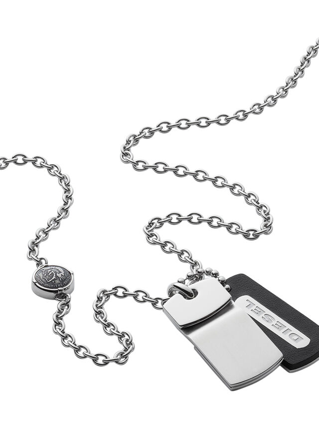 Diesel - NECKLACE DX0973, Silver - Necklaces - Image 2