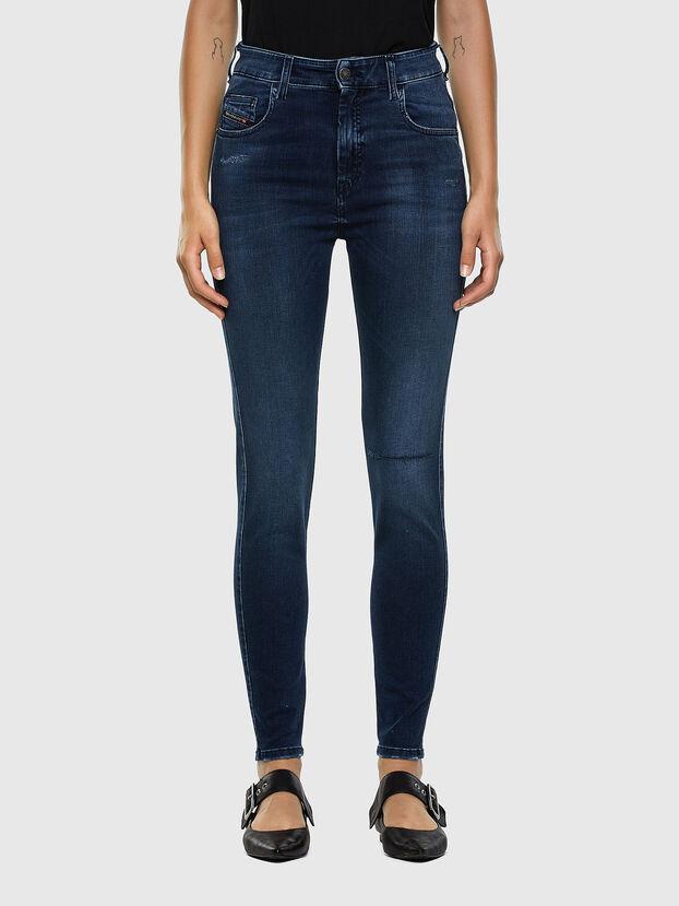 Slandy High 009LR, Medium blue - Jeans