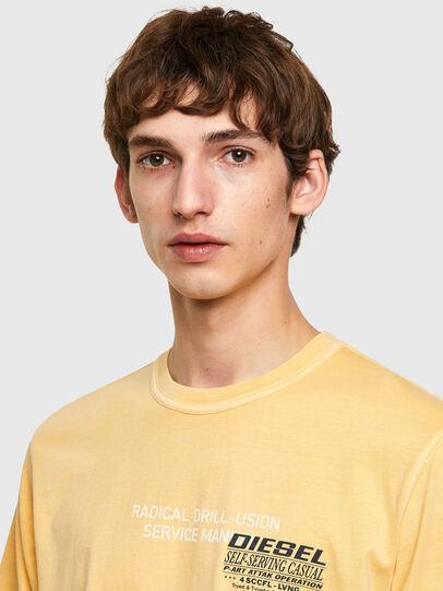 Diesel - T-JUBINDY-B1, Yellow - T-Shirts - Image 3