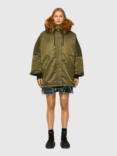 Diesel - W-FLORES, Military Green - Winter Jackets - Image 1