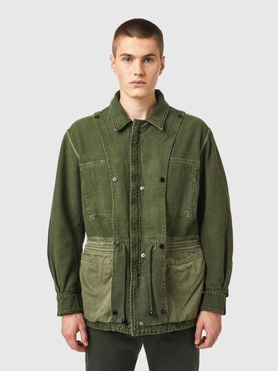 Diesel - D-NOVO-SP, Olive Green - Denim Jackets - Image 7