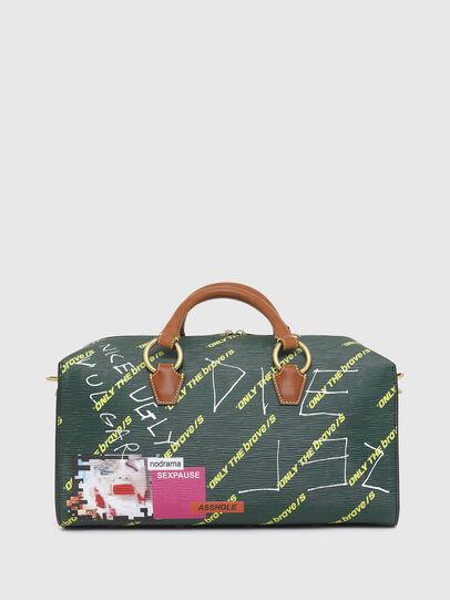 Diesel - TYLEBAG R, Black/Green - Travel Bags - Image 2