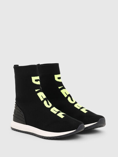 Diesel - SLIP ON 04 MID SOCK, Black - Footwear - Image 2