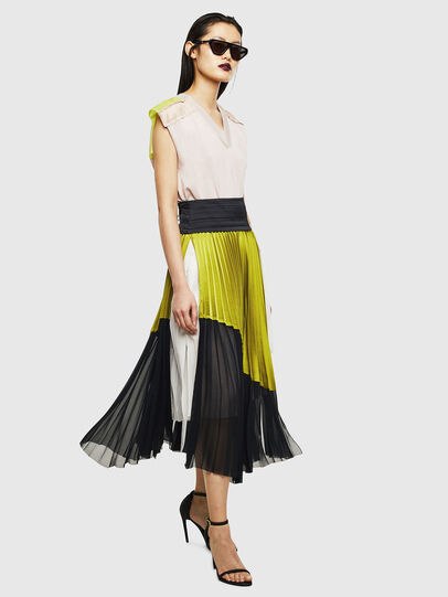 Diesel - O-ESCY, Black/Yellow - Skirts - Image 7