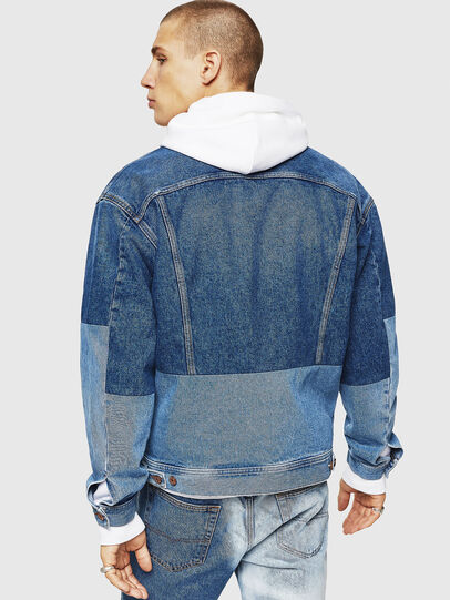 Diesel - D-PUF, Medium blue - Denim Jackets - Image 2