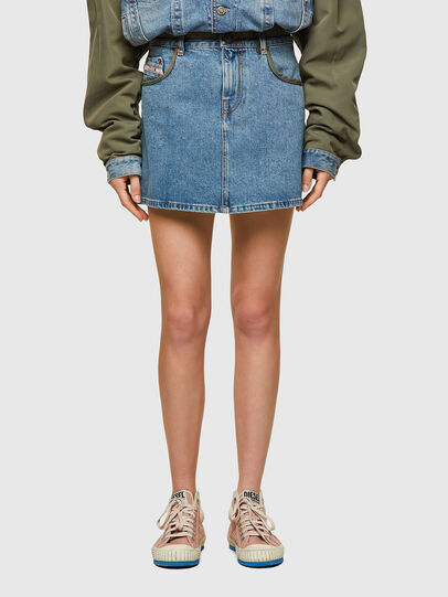 Diesel - DxD-SKIRT, Light Blue - Skirts - Image 2