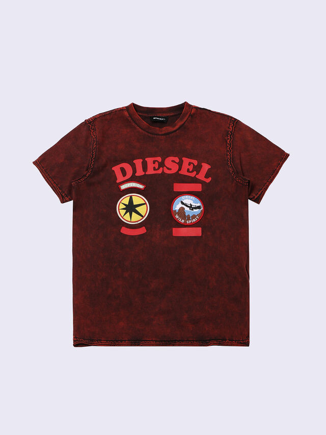 Diesel - TIFFOR, Bordeaux - T-shirts and Tops - Image 1