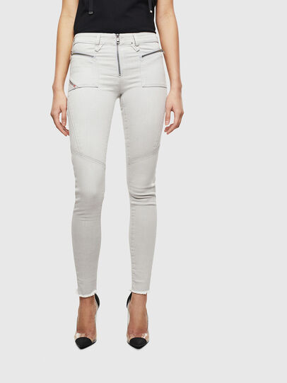 Diesel - Slandy 0097F, Light Grey - Jeans - Image 1