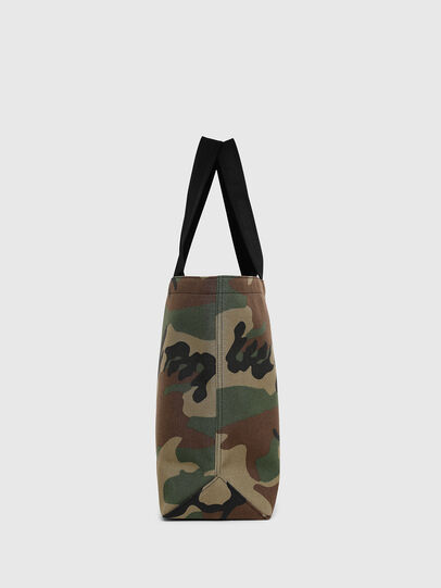 Diesel - D-THISBAG SHOPPER L, Green Camouflage - Shopping and Shoulder Bags - Image 3