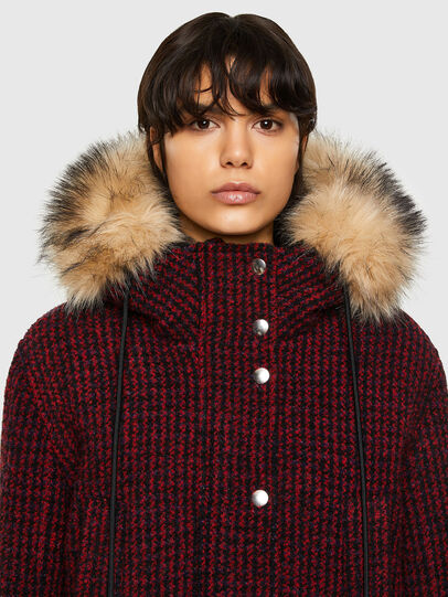 Diesel - W-SAMOEI-A, Black/Red - Winter Jackets - Image 3