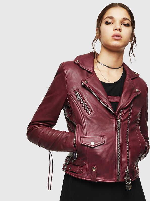 L-SINYA-A, Bordeaux - Leather jackets