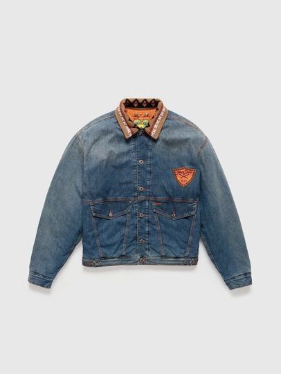 Diesel - DxD-J3, Light Blue - Denim Jackets - Image 1