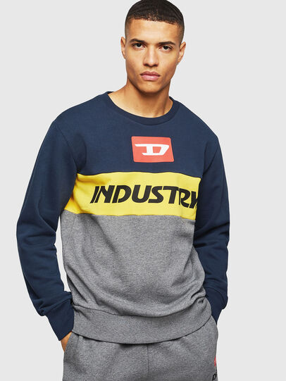 Diesel - UMLT-WILLY, Blue/Grey - Sweaters - Image 1