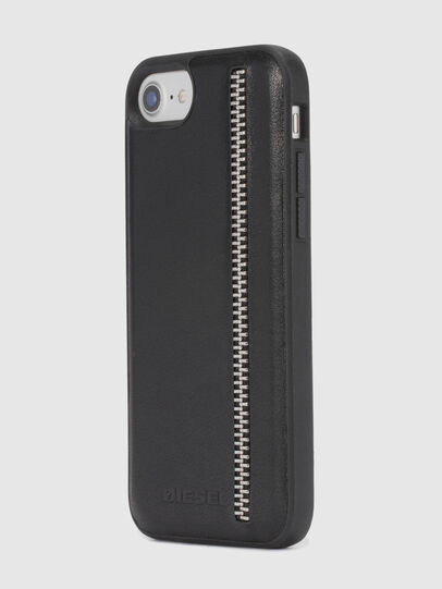 Diesel - ZIP BLACK LEATHER IPHONE 8 PLUS/7 PLUS/6s PLUS/6 PLUS CASE,  - Cases - Image 6