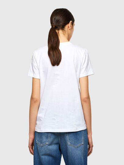 Diesel - T-SILY-K10, White - T-Shirts - Image 2