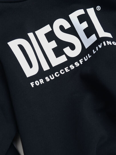 Diesel - SDIVISION-LOGO OVER, Black - Sweaters - Image 3