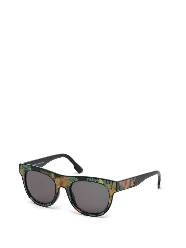Diesel DM0160, Black/Orange - Eyewear - Image 4