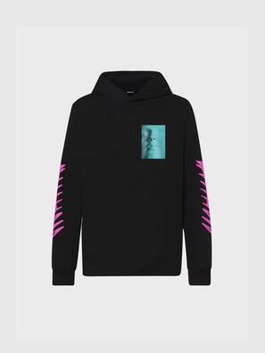 T-JUST-LS-HOOD-X30, Black - T-Shirts