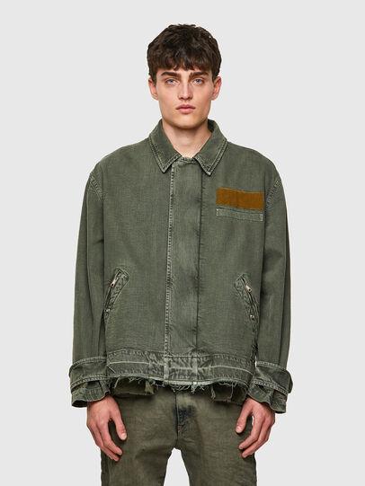 Diesel - J-GEORG, Olive Green - Jackets - Image 1
