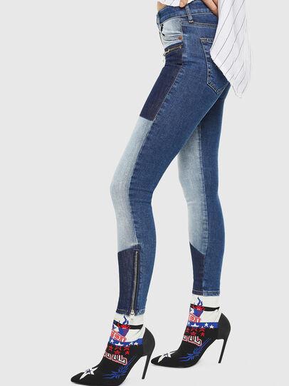 Diesel - D-SLANTY HAB, Multicolor/Black - Ankle Boots - Image 5