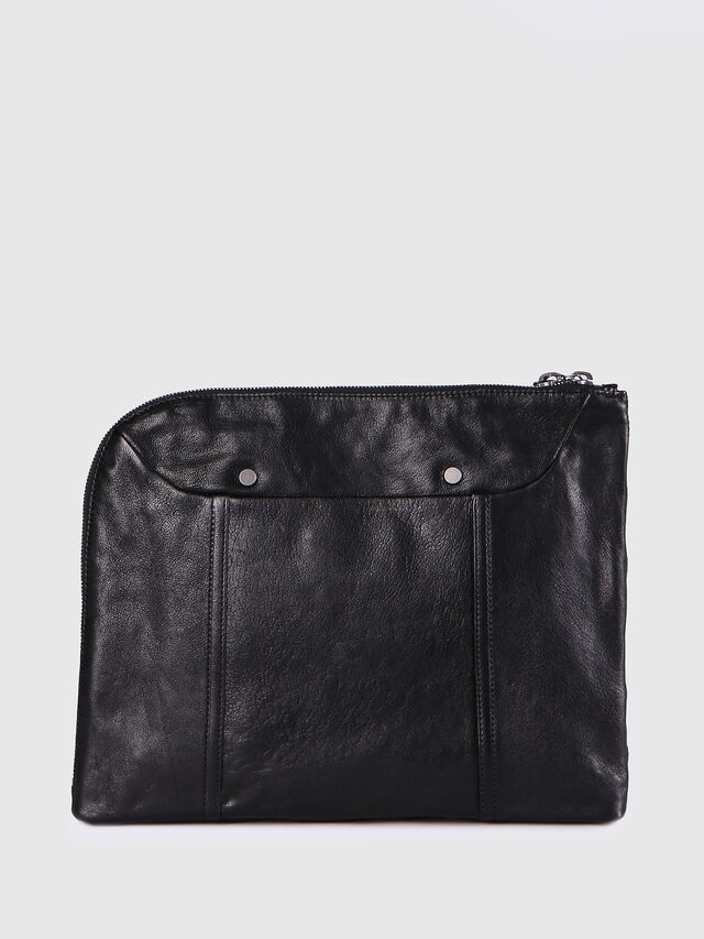 Diesel L-L4CLUTCH, Black Leather - Clutches - Image 2