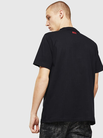 Diesel - T-JUST-J9, Black/Red - T-Shirts - Image 3