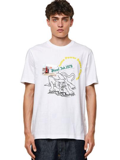 Diesel - T-JUST-B60, White - T-Shirts - Image 1