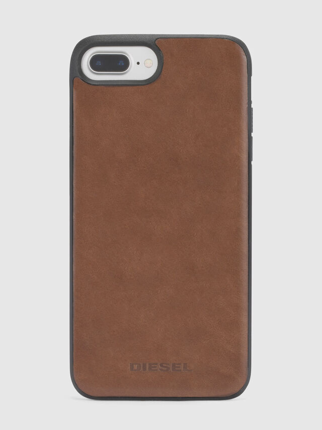 Diesel BROWN LEATHER IPHONE 8 PLUS/7 PLUS/6s PLUS/6 PLUS CASE, Brown - Cases - Image 3