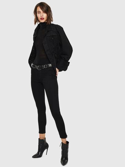 Diesel - Slandy Zip 069EF, Black/Dark grey - Jeans - Image 7