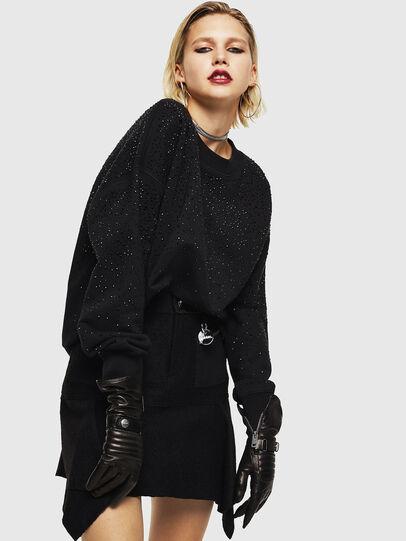Diesel - F-MAGDA-D, Black - Sweaters - Image 4