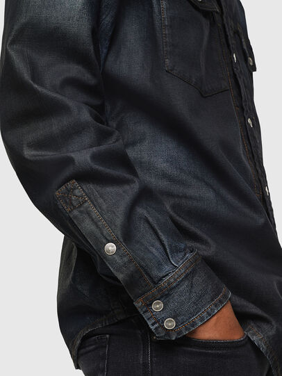 Diesel - D-BANDY-B, Dark Blue - Denim Shirts - Image 3