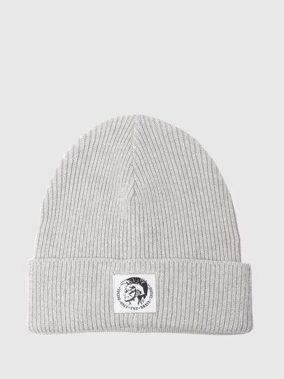 Diesel - K-CODER, Light Grey - Knit caps - Image 1