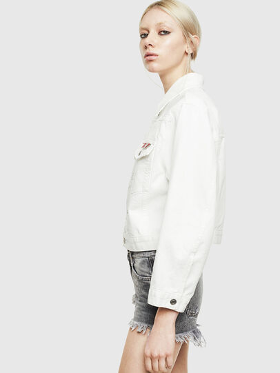 Diesel - DE-CATY, White - Denim Jackets - Image 4