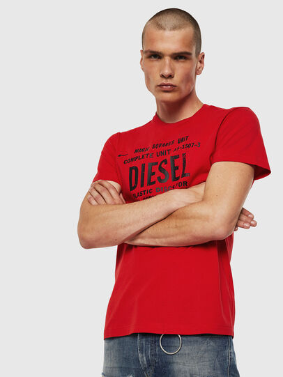 Diesel - T-DIEGO-B6, Fire Red - T-Shirts - Image 1