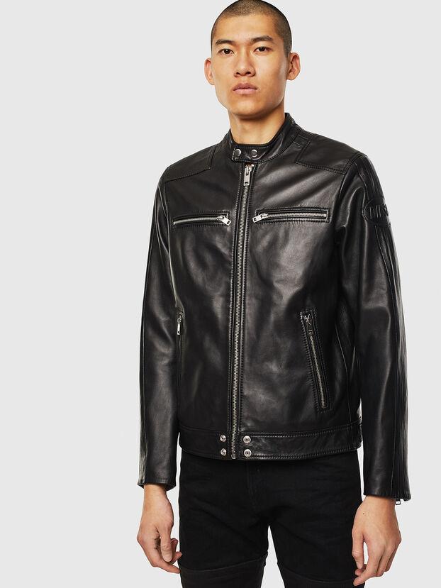 L-BOY, Black - Leather jackets