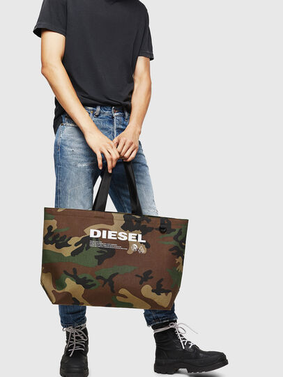 Diesel - D-THISBAG SHOPPER L, Green Camouflage - Shopping and Shoulder Bags - Image 6