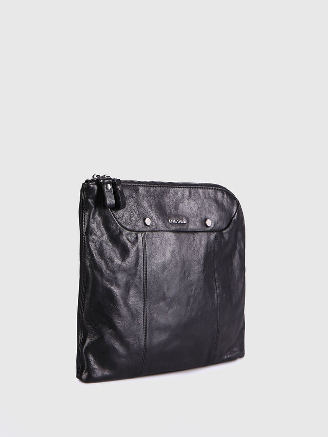 Diesel L-L4CLUTCH, Black Leather - Clutches - Image 3