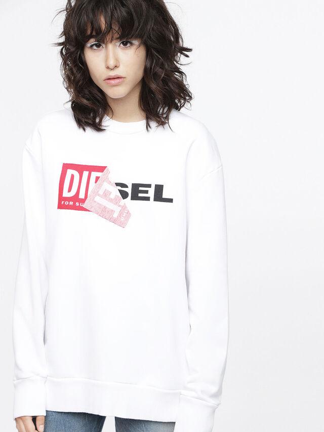 Diesel F-SAMY-FL, White - Sweaters - Image 1