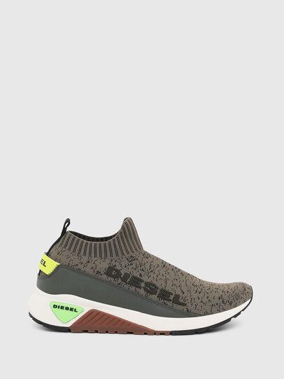 Diesel - S-KB SOCK QB, Olive Green - Sneakers - Image 1
